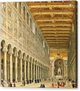 Interior Of San Paolo Fuori Le Mura Acrylic Print