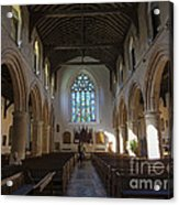 Interior Of St Mary's Church In Rye Acrylic Print