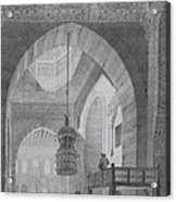 Interior Of The Mosque Of Kaid-bey Acrylic Print