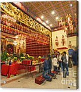 Interior Of Thien Hau Temple A Taoist Temple In Chinatown Of Los Angeles Acrylic Print