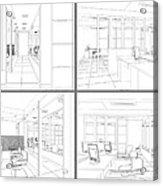 Interior Office Rooms Acrylic Print