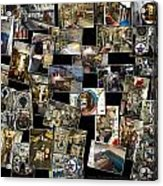 Interior Russian Submarine Horz Collage Acrylic Print