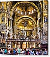 Interior St Marks Basilica Venice Acrylic Print