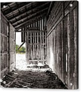 Interiors In Black And White Acrylic Print