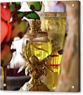 Interiors Of Vihn Trang Pagoda, My Tho Acrylic Print