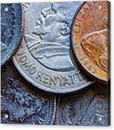 International Coins Acrylic Print
