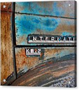 International Pickup Hood Acrylic Print