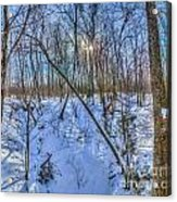 Intersecting Snow Streams Acrylic Print