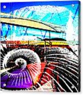 Interstate 10- Cushing St Overpass- Rectangle Remix Acrylic Print
