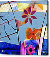 Interstate 10- Exit 256- Grant Rd Underpass- Rectangle Remix Acrylic Print