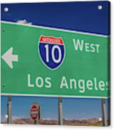 Interstate 10 Highway Signs Acrylic Print