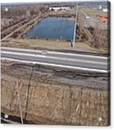 Interstate 75 Construction Ohio Aerial Acrylic Print