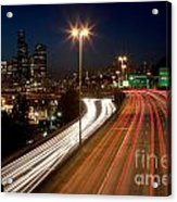 Interstate Traffic In Seattle Washington Acrylic Print