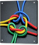 Intertwined Multicolored Ropes Acrylic Print