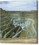 Inti Raymi Gold Mine Quarry In Oruro Acrylic Print