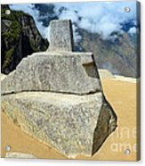 Inti Watana Stone Calendar At Machu Picchu Acrylic Print