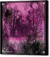 Into A Dark Pink Forest Acrylic Print