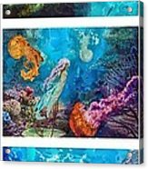 Into Deep Triptic Acrylic Print by Mo T