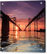 Into Sunrise - Bay Bridge Acrylic Print