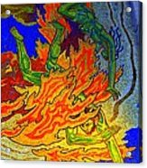 Into The Flames Of Hell Acrylic Print