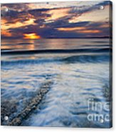 Into The Sea Acrylic Print by Mike  Dawson