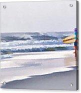 Into The Surf Acrylic Print