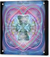 Intwined Hearts Chalice Wings Of Vortexes Radiant Deep Synthesis Acrylic Print