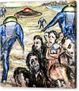 Invasion Acrylic Print by Arthur Robins