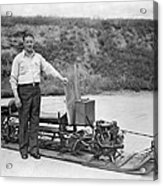 Inventor Of First Snowmobile Acrylic Print
