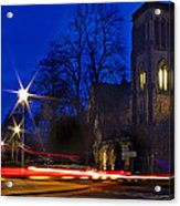 Inverness Cathedral At Night Acrylic Print