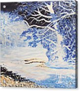 Inverted Lights At Trawscoed Aberystwyth Welsh Landscape Abstract Art Acrylic Print