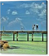 Investigating At Rod And Reel Pier Acrylic Print