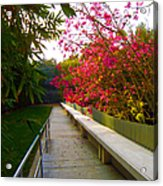 Inviting Garden Alley Acrylic Print
