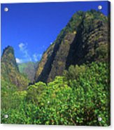 Io Needle And Valley Maui Hawaii Acrylic Print