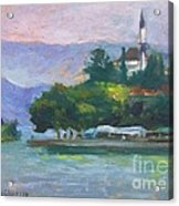 Ioannina Lake Acrylic Print by George Siaba