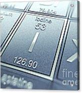 Iodine Chemical Element Acrylic Print