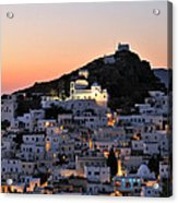 Ios Town During Sunset Acrylic Print