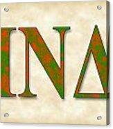 Iota Nu Delta - Parchment Acrylic Print