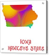 Iowa State Map Collection 2 Acrylic Print