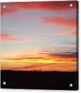 Iowa Sunset Acrylic Print
