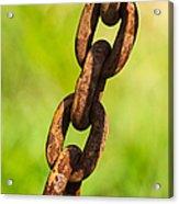 iPhone Case - Rusty Chain Acrylic Print by Alexander Senin