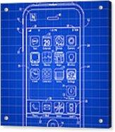 iPhone Patent - Blue Acrylic Print