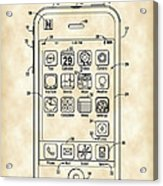 iPhone Patent - Vintage Acrylic Print