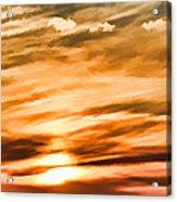 Iphone Sunset Digital Paint Acrylic Print