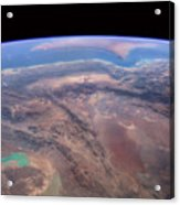 Iran And Persian Gulf From Space Acrylic Print