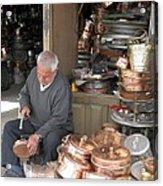 Iran Isfahan Copper Artisan Acrylic Print