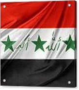 Iraq Flag Acrylic Print by Les Cunliffe