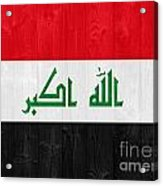 Iraq Flag Acrylic Print by Luis Alvarenga