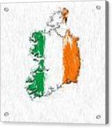 Ireland Painted Flag Map Acrylic Print