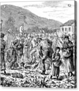 Ireland Peasants, 1886 Acrylic Print